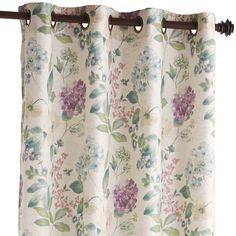 """Natural 84"""" Tiffany Floral Curtain"""