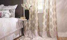 Easy Custom Curtains - extend and mix up curtains by adding piece on bottom