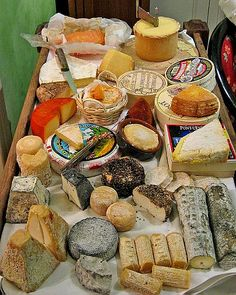 Les Fromages de France (The Cheeses of France) Fromage Cheese, Charcuterie Cheese, Queso Cheese, Wine Cheese, Cheese Platters, Queso Fundido, Cheese Display, French Cheese, Kinds Of Cheese