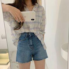 korean simple look Korean Girl Fashion, Korean Fashion Trends, Ulzzang Fashion, Style Fashion, Fashion Tips, Korean Casual Outfits, Trendy Outfits, Cute Outfits, Cute Simple Outfits
