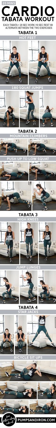 If you want to get fit then you need to push yourself to the limits. Checkout this awesome 20 minute Tabata workout - no equipment needed Tabata Workouts, At Home Workouts, Killer Workouts, Fitness Workouts, Workout Videos, Body Weight, Weight Loss Tips, Fitness Inspiration, Fitness Tips