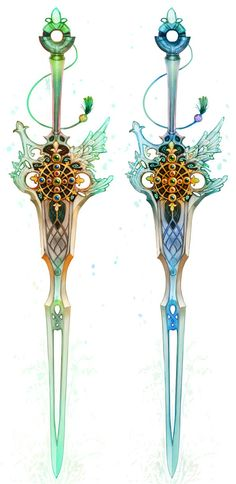 Ancient, Old Fashioned, Fantasy-decorated Weapons, Instruments and Artifacts' concepts and designs~ Blacksmith League we…