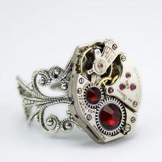 Very original Steampunk ring | Steampunk jewelry
