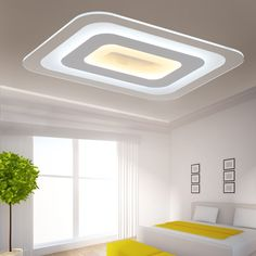 Slim led ceiling lamp bedroom living room study balcony creative personality warm acrylic led ceiling lamps Bedroom Led Lamps, Dining Room Lamps, Bedroom Ceiling, Square Ceiling Lights, Modern Led Ceiling Lights, Led Ceiling Lamp, Ceiling Design Living Room, Living Room Lighting, Living Room Designs