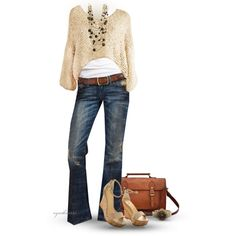 Cropped Sweater, created by cynthia335 on Polyvore