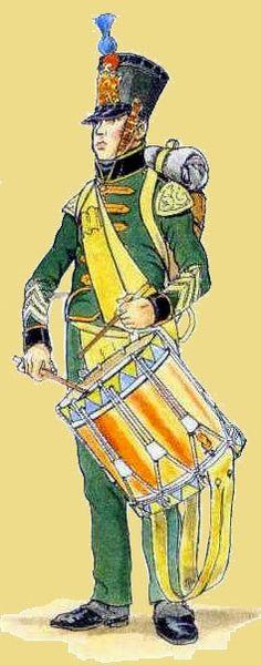 Nassau Drurmmer of the 1st company  Regiment, 1815                                                                                                                                                      Mehr