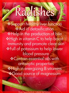 nutrients in radishes, suprising number of  #health benefits #plantbased diet
