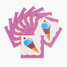 Ice Cream Party Supplies, Ice Cream Lunch Napkins, Tableware