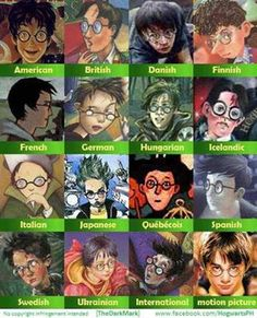 All the different Harry Potters.