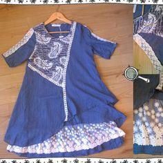Śliczna patchworkowa sukienka... po prawej detale