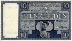 Tienguldenbiljet uit 1924, met daarop een vrouw in protestantse Zuid-Bevelandse dracht (Zeeuws Museum-collectie KZGW)