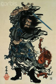 shoki | Shoki the Demon Queller by Kawanabe Kyosai