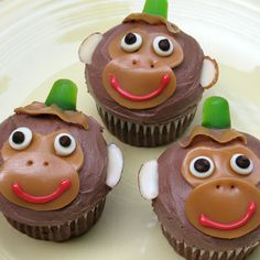 Abu Cupcakes | Recipes | Spoonful.  These look so easy!  I bet I could replace the hat with a bow for the baby shower!