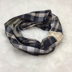 Knighbury Country Style Infinty Scarf Made in India.  100% cotton. Knighbury Accessories Scarves & Wraps