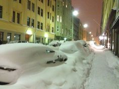 Helsinki and snow