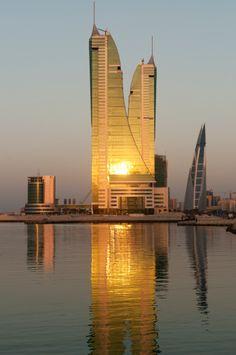 High rise towers Bahrain Financial Harbour