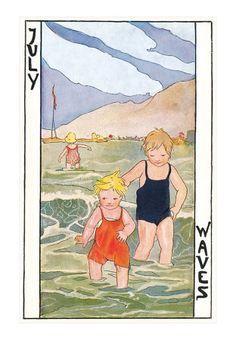 """July"" postcard by Rie Cramer"