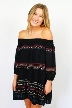 Embroidered Señorita Dress