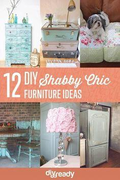12 DIY Shabby Chic Furniture Ideas by DIY Ready at http://diyready.com/12-diy-shabby-chic-furniture-ideas/