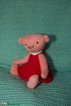 Rózi - rózsaszín teddy mackó (TVAgi) - Meska.hu Mac, Teddy Bear, Toys, Animals, Products, Animales, Animaux, Toy, Teddybear