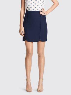Margaret Solid Skirt in nassau navy by Draper James