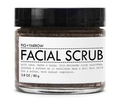 Slough off dead skin cells and help brighten skin with this facial scrub, which contains ground oat flour, fuller's earth clay, and honey. It's also packed with essential oils such as rosewood, lavender, rosemary and chamomile.  FIG + YARROW Facial Scrub ($22)