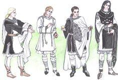 Gondorian clothing for men by Tindarien on deviantART - based on Byzantian examples