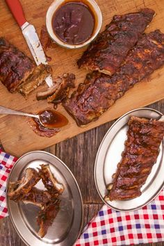 This recipe will give you the best no-fail barbecue ribs ever! It includes a dry rub, some steaming, and a sticky BBQ sauce.