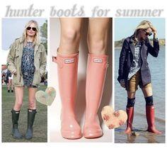 Hunter Rain Boots #style #summer #julep