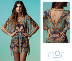 Estampa 'Mandarim' desenvolvida exclusivamente para a marca MOS Beachwear - Verão 14 / Print designed by CJunqueira Surface Pattern Design // Contact: cjestampas@gmail.com