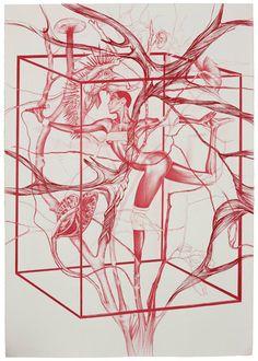 Rodolpho-Parigi-Magenta-Grace-Jones-2011-197-x-145-cm-Nanquin-e-lápis-de-cor-sobre-papel (2)
