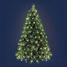 MOMEX 300 LED 21M Luci Albero di Natale Catena Luminosa con Giochi di Luce Bianco Freddo Cavo Verde Luci di Natale Esterno ed Interno 300LED