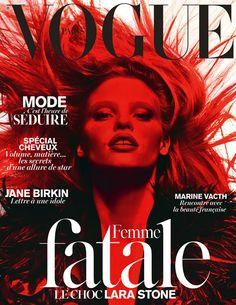 Le numéro de mars 2014 de Vogue Paris spécial femme fatale http://www.vogue.fr/mode/news-mode/articles/le-numero-de-mars-2014-de-vogue-paris-lara-stone-femme-fatale/22163