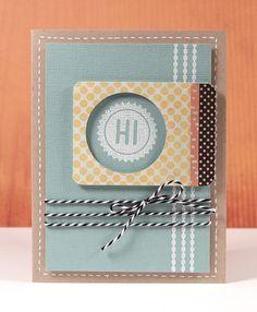 Hi Card (November Card Kit) - Kristina Werner