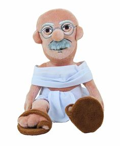 Mahatma Gandhi Plush Doll - Little Thinkers by The Unemployed Philosophers Guild