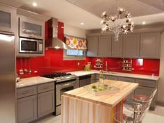 Red backslash