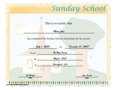 Certificate of appreciation religious certificate of appreciation this certificate certifies the completion of sunday school curriculum and displays a country church in the background free to download and print yelopaper Image collections