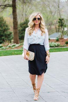 Madewell midi skirt