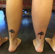 Best Friend Palm Tree Tattoos by Channing Tattoo