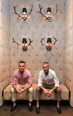 Yes, it's Dean and Dan of Dsquared2, but this pin is all about those sconces!!!
