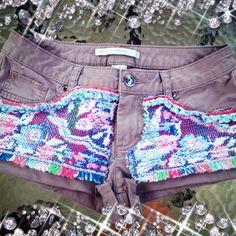 DIY shorts + old placemat!