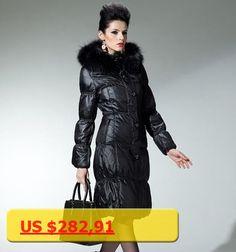 On Sale ! Large Raccoon Fur Hooded Down Jacket Long Coat 2016 Winter Jacket Women Down Parka down coats Downs Jackets Outwear 6