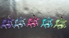 Unicorn Earrings / Transparent Unicorn Earrings / Woman Acrylic  Unicorns Earrings / Cute Girls Unicorns Earrings / Kawaii Unicorns Earrings