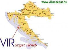 A horvátországot kedvelő autóval utazókat segítheti a Vir sziget térkép, amely útba igazítja az erre a szigetre induló nyaralókat.