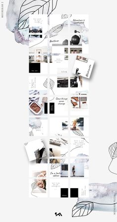 This bundle consists of 8 Puzzle templates and various hand drawn and other elements which you will find in the particular puzzle folders Feeds Instagram, Instagram Grid, Instagram Posts, Instagram Ideas, Instagram Design, Instagram Feed Layout, Web Design, Layout Design, Grid Layouts