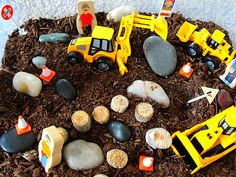 Construction Sensory Bin (Photo from Olives and Pickles)