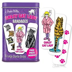 Archie McPhee - Crazy Cat Lady Bandages