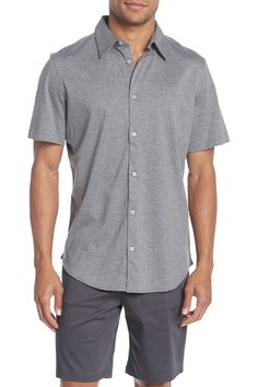 483c2ddf8 Party Breezer Linen Short Sleeve Modern Fit Shirt in 2019 | father's ...