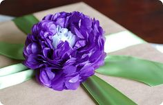 Variety of tissue paper flowers