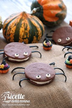 Halloween Spider Cookies - Ragno biscotti di Halloween